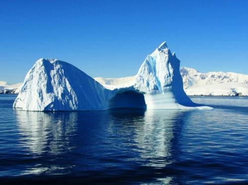 Iceberg near Melchior Island Antarctica - Blue/White contrast - Peaceful Ocean - Antarctic Sea