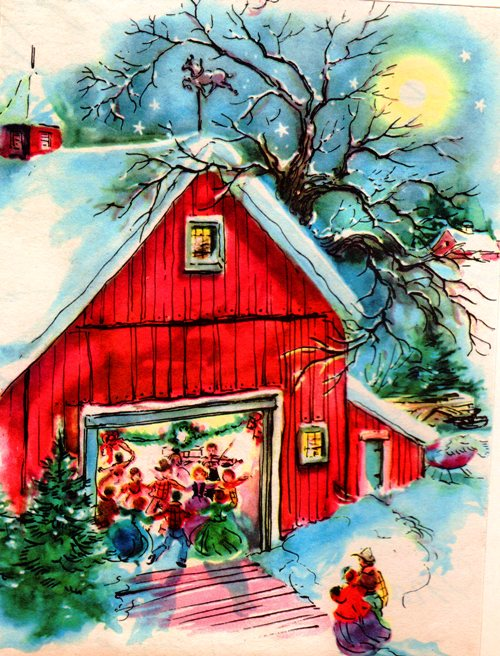 Barn in Winter - Party in Barn - Cold Weather - Winter - Winter Solstice - Seasons