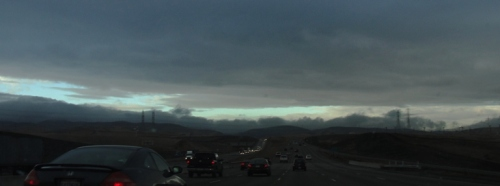 California Winter - Rainy Season - Altamont Pass - Rain Clouds