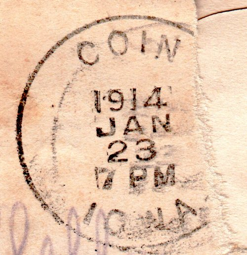 Old Post Mark - Coin, Iowa - Postal Mark