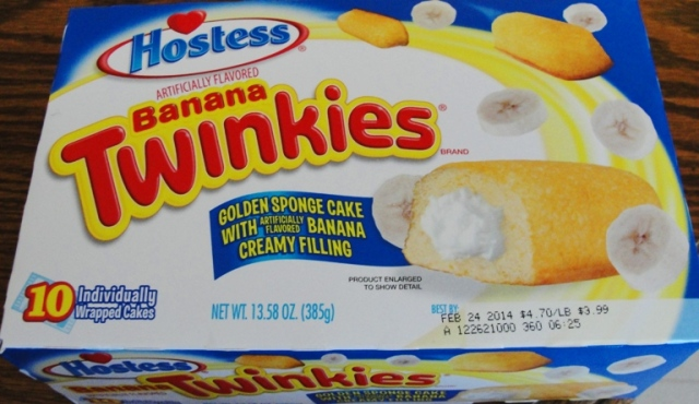Banana Twinkies - Hostess Snack Cakes - Original Twinkies Flavor - Wal-Mart Twinkies