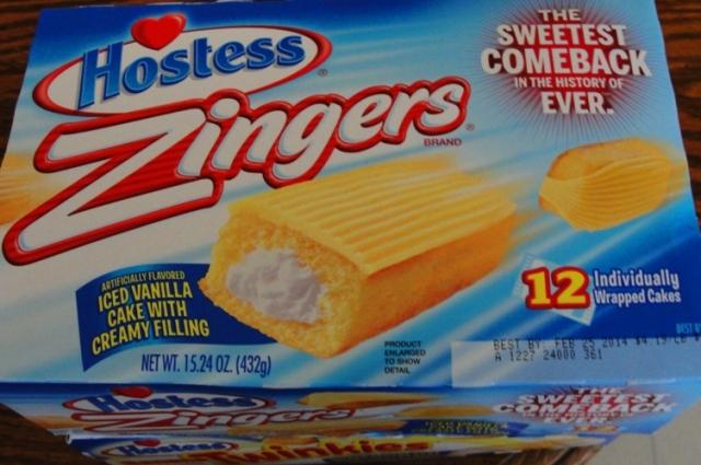 Zingers - Hostess Snack Cakes - Return of Zingers