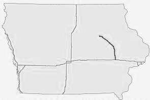 Iowa Interstate map - Interstate Routes - I-35 - I-80 - I-380 - I-29