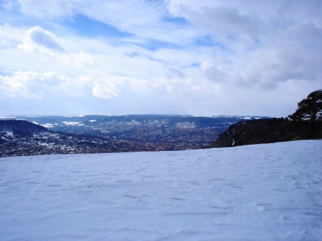Jena, Germany - Overlook on Snowy Day - Wandering in the Snow - Winter Day