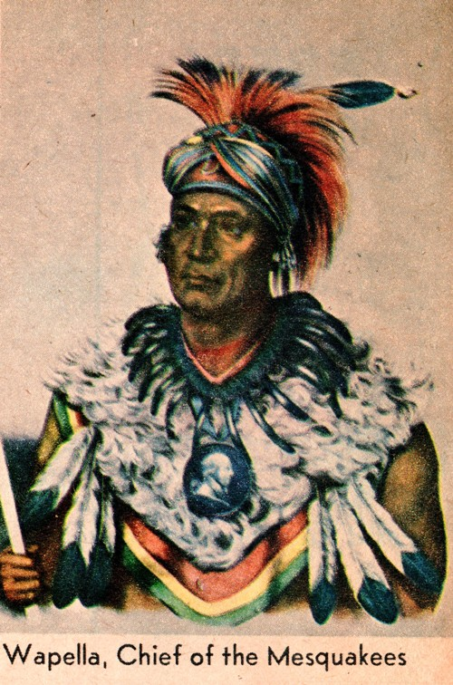 Chief Wapella, Chief of the Mesquakees, Ottumwa, Iowa, Wapello County, Iowa History, native americans, American Indians