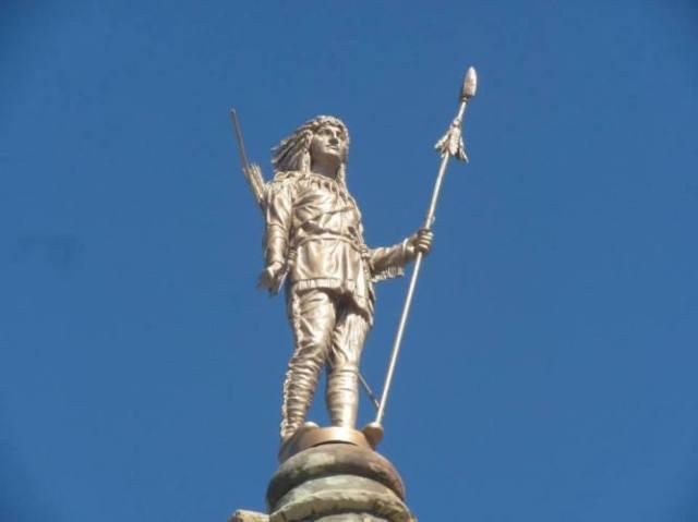 Statue of Chief Wapello - Ottumwa, Iowa - Wapello County Court House - Native American Statue