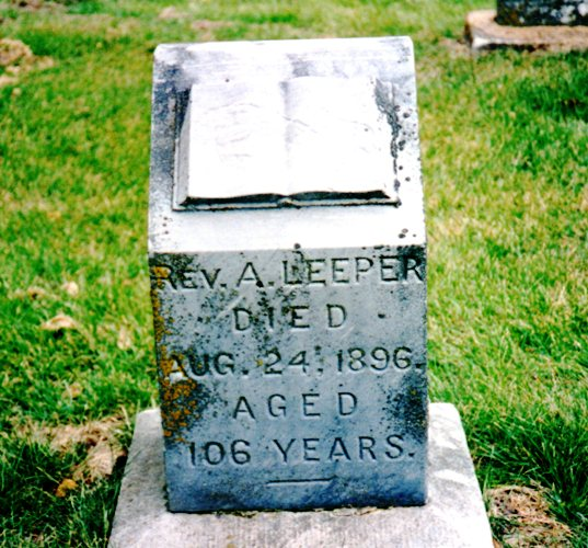 Absalom Leeper Tombstone - 106 years old - Early Pioneer - Henry County, Iowa