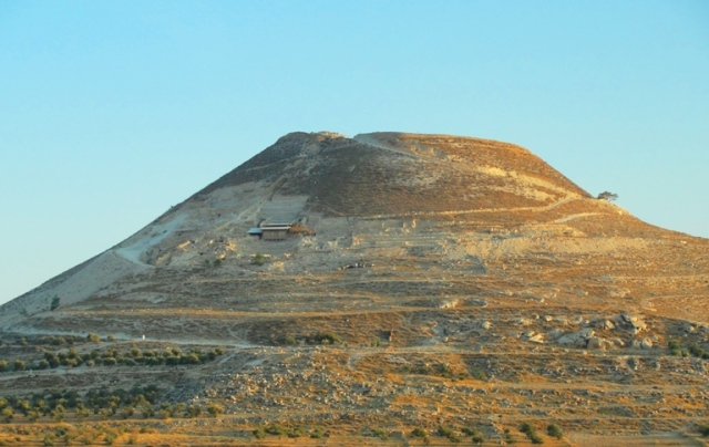 Herodium, Bethlehem, Mausoleum, Herod's Tomb?, BAR