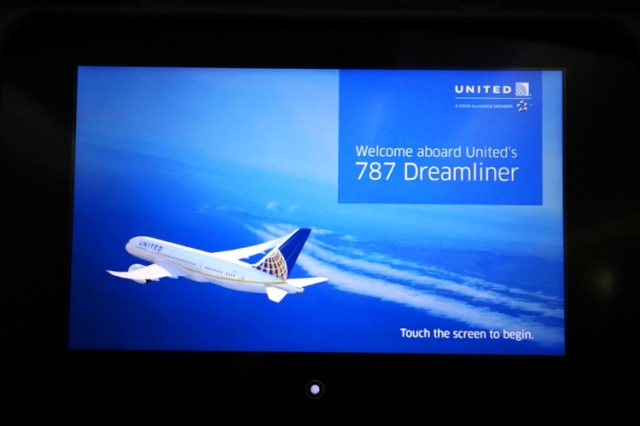 Welcome Aboard - United 787 Entertainment system - Boeing 787