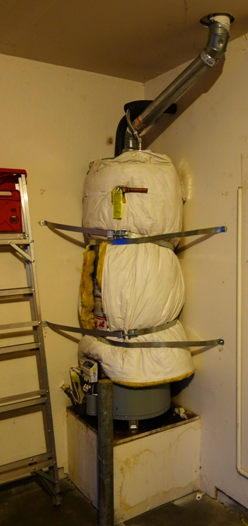 New Water Heater - Earthquake Straps - Insulation Blanket - Hot Water