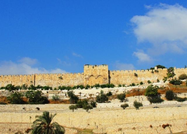 Jerusalem Golden Gate - Eastern Gate - Palm Sunday - Jerusalem - Temple Mount