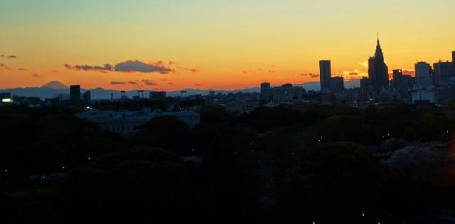 Sunset - Tokyo - Shinjuku - Mt. Fuji - Fuji-san