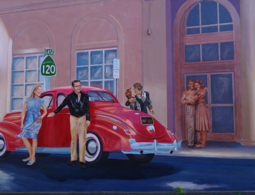 Cruising Manteca - Mural - D.S.  Gordon - Street Scene