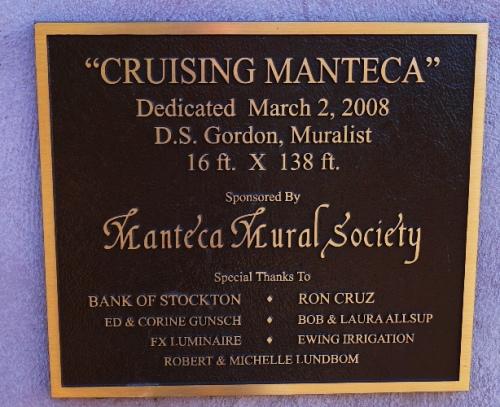 Mural - Cruising Manteca - Manteca Mural Society - D.S. Gordon - 2008