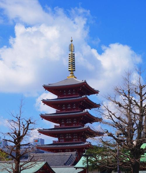 Senso-ji - Asakusa - Tokyo - Five Storied Pagoda - 5 story pagoda - Shinto Shrine