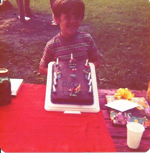 Birthday cake, baseball, birthday party