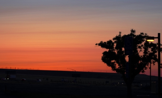 California Sunset, Big Valley Sunset, Red Sky, Silhouette