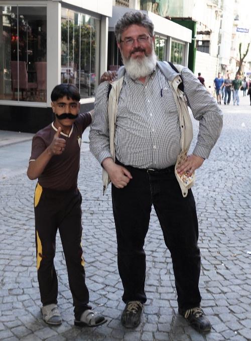 Mustache and Beard - Istanbul Street scene - Turkey