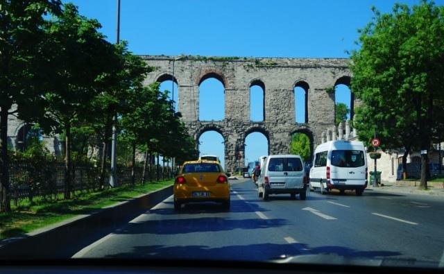 Istanbul, Turkey - Airport Route - Aqueduct - Roman Aqueduct - Roman Ruins