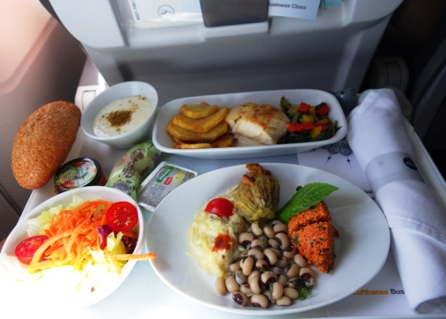 Lufthansa Business Class Meal, Lufthansa Airlines, Istanbul to Frankfurt