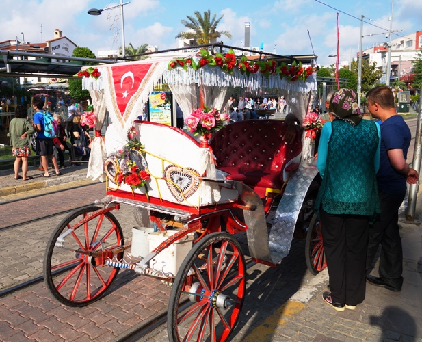 Decorated Carriage, Antalya Turkey, Horse and Carriage