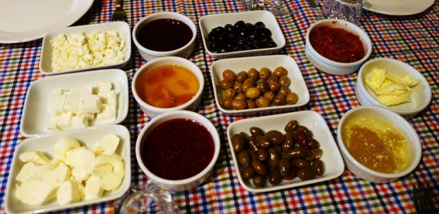 Cheese, Olive, Honey, Strawberry Jam, Cherry Jam, Apricot Jam, condiments