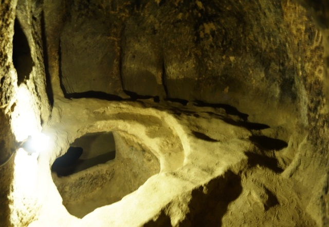 kaymakli Underground city, excavations - hiding holes, persuction