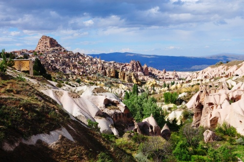 pigeon valley - cappadocia - guano - pigeons - rock fortress