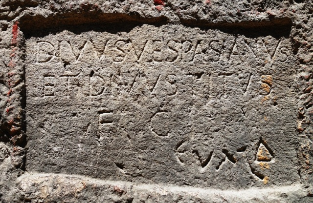 Titus Tunnel Inscription - Titus Tunnel - Titus - Vespasian - Antakya - Turkey