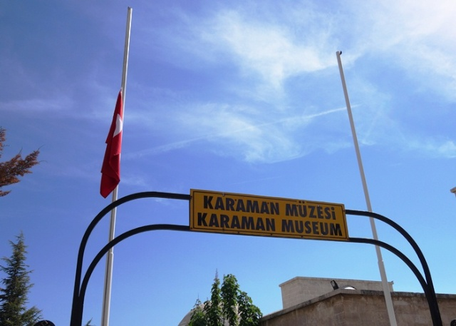 Karaman Museum - Derbe Inscription - Flag at Half-Staff - Turkish Mining disaster