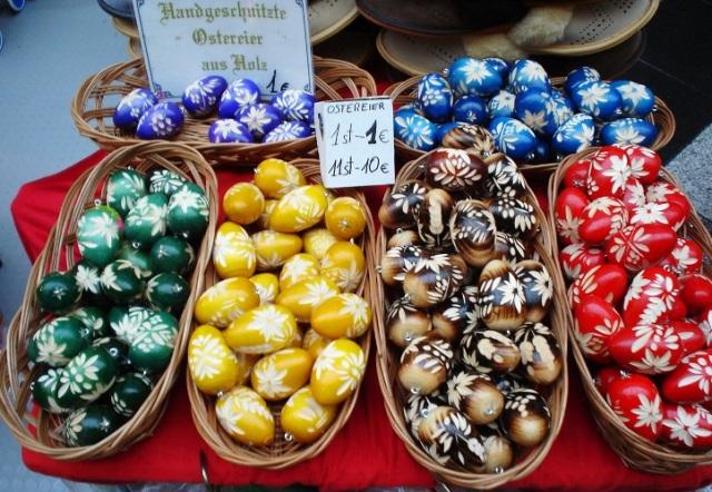 Wooden Easter Eggs, Germany, Jena, Handcrafts