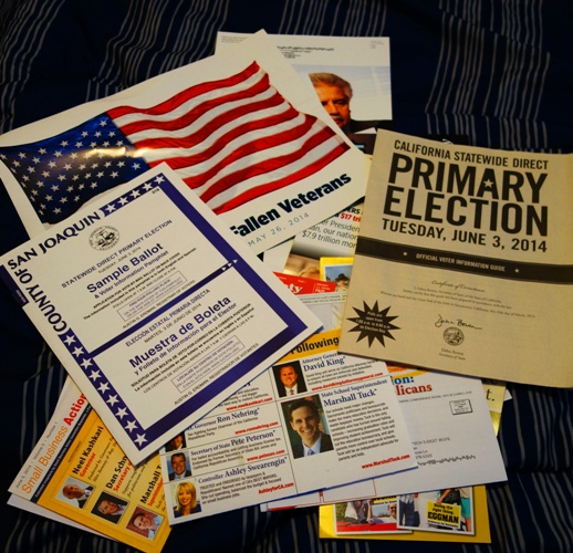 Election material, Sample Ballot, Election Information, Candidate Mailers