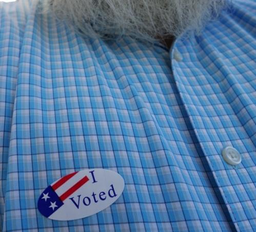 I Voted Sticker, Vote Sticker, Flag Sticker