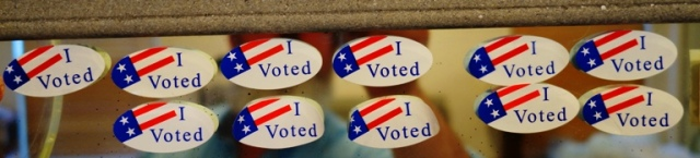 Election Stickers, I voted, primary election, elections