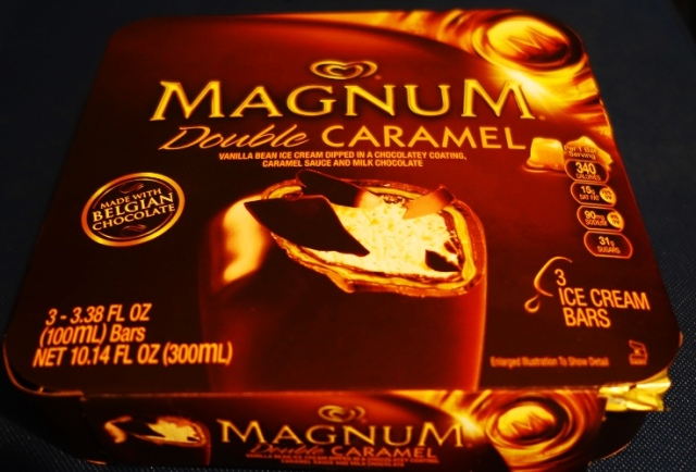 Magnum Bars, Double Caramel, Three Pack, Ice Cream treats