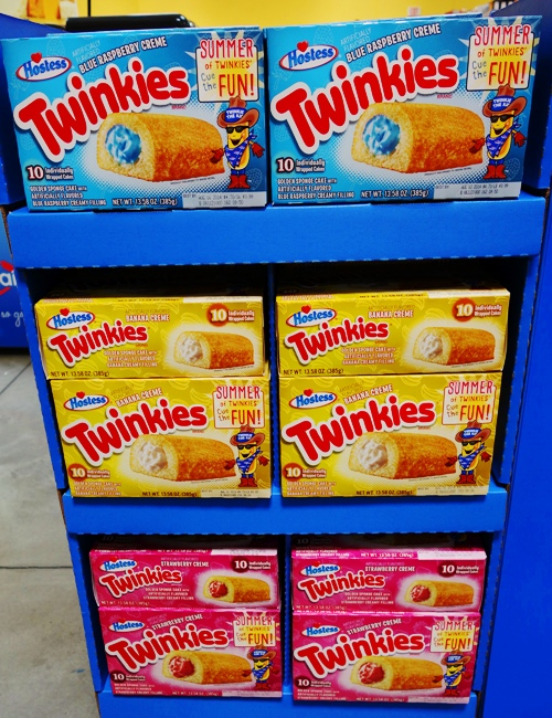 Twinkies, Banana Twinkies, Strawberry Twinkies, Blue Raspberry Twinkies