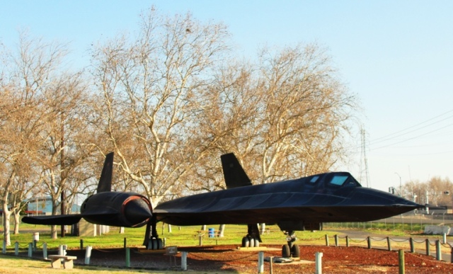 SR-71 Blackbird, Lockheed, Castle Air Force Base, Atwater California, Fastest Jet