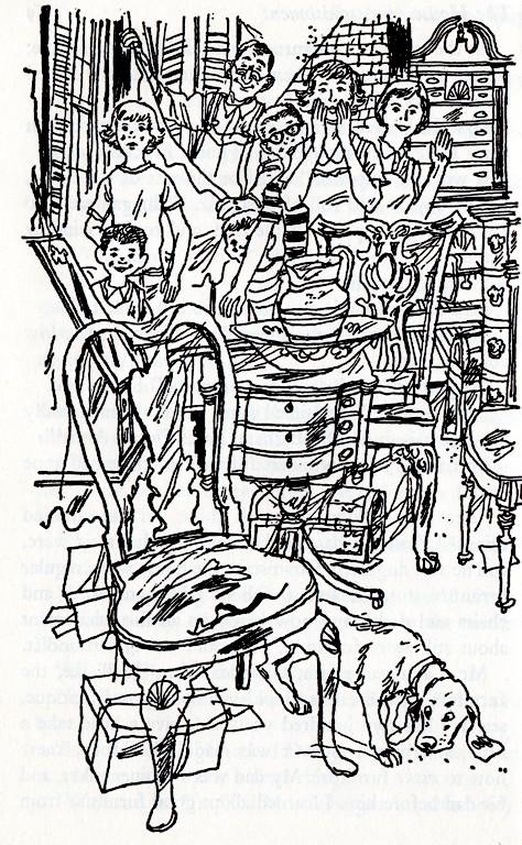 Return to Gone-Away, Illustrators, Beth and Joe Krush, Elizabeth Enright, Ink Drawings