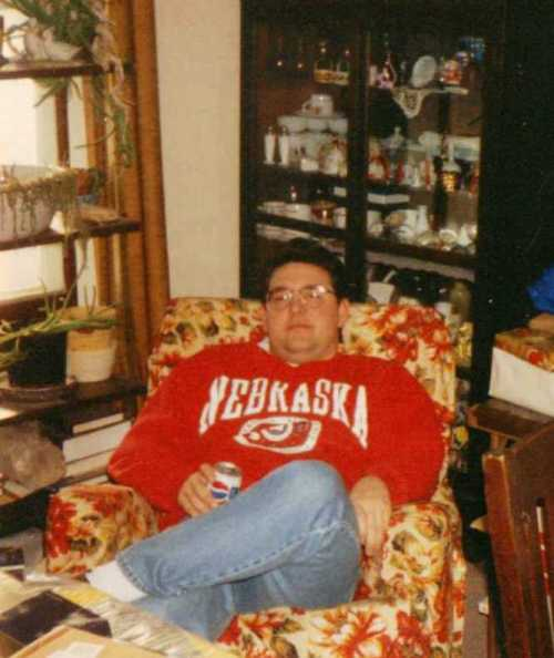Nap Time, Nebraska Sweatshirt, Relaxing at Grandma's