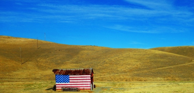 Flag Barn, Vasco Road, Livermore California, Detour, Traffic, Golden hills