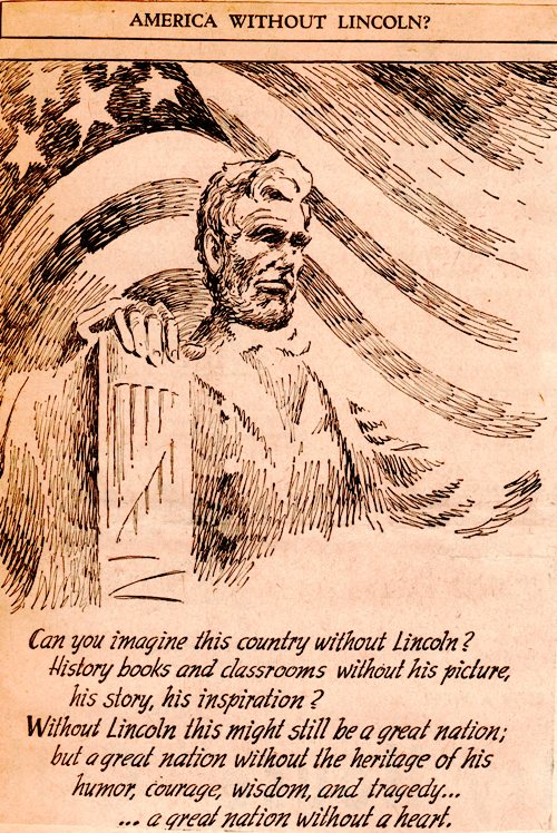 America Without Lincoln?, Editorial Cartoon, President Lincoln