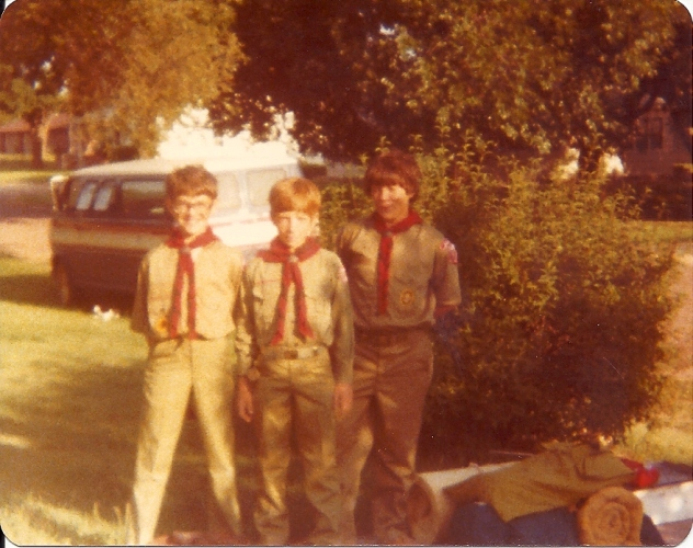 Boy Scouts in uniform, Dallas, Craig, Scout Camp, Camping, Scouting Memories