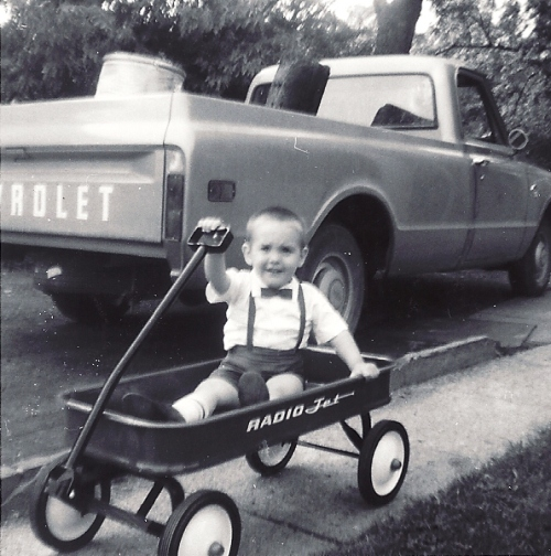 Little Red Wagon, Birthday present, Old Truck, Memories, Bowtie