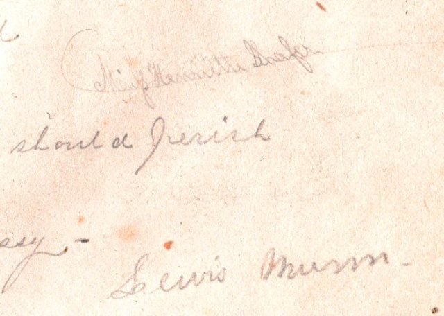 Great, Great Grandparents School Book, Signature, Inscription, Lewis Munn, Sullivanville, New York