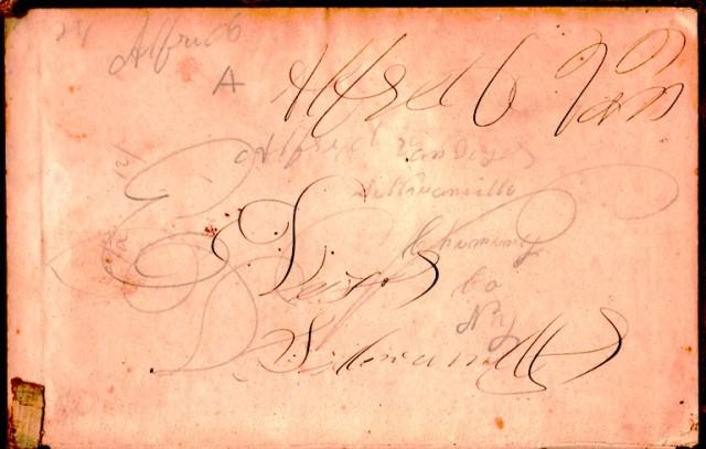 Old School Book, Signature of Ancestor, Chemung, Sullivanville, New York, Van Duzor