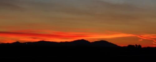 Mount Diablo, Sunset, California, Red sky, Colorful sky