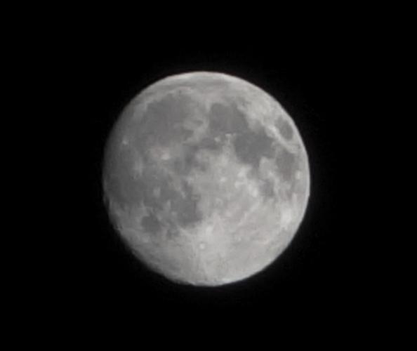Full Moon, 1/320 Exposure, Camera Practice, Night Sky