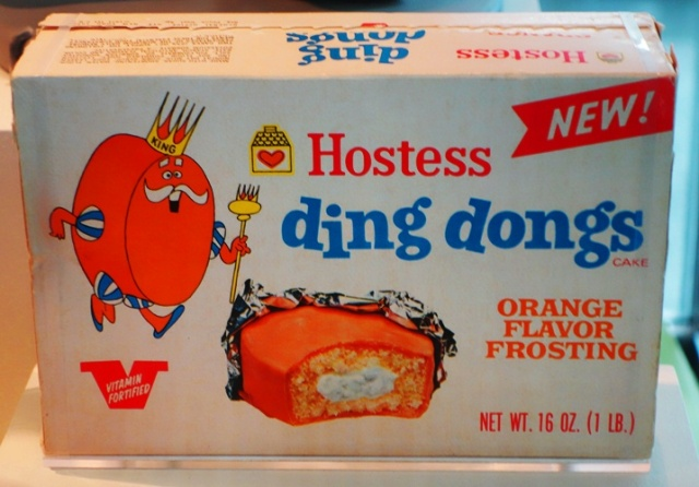 Hostess ding dongs, orange frosting, hostess product, King Ding Dong