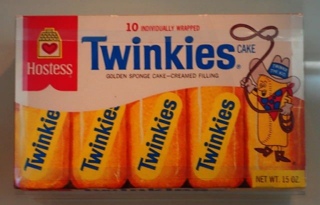 Twinkies, Hostess, Snack Cakes, 1970's Packaging, box of Twinkies