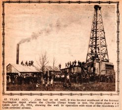 Coin Iowa Oil Well, 1904, Coin, Iowa, Oil Well, Drilling, Oil Exploration